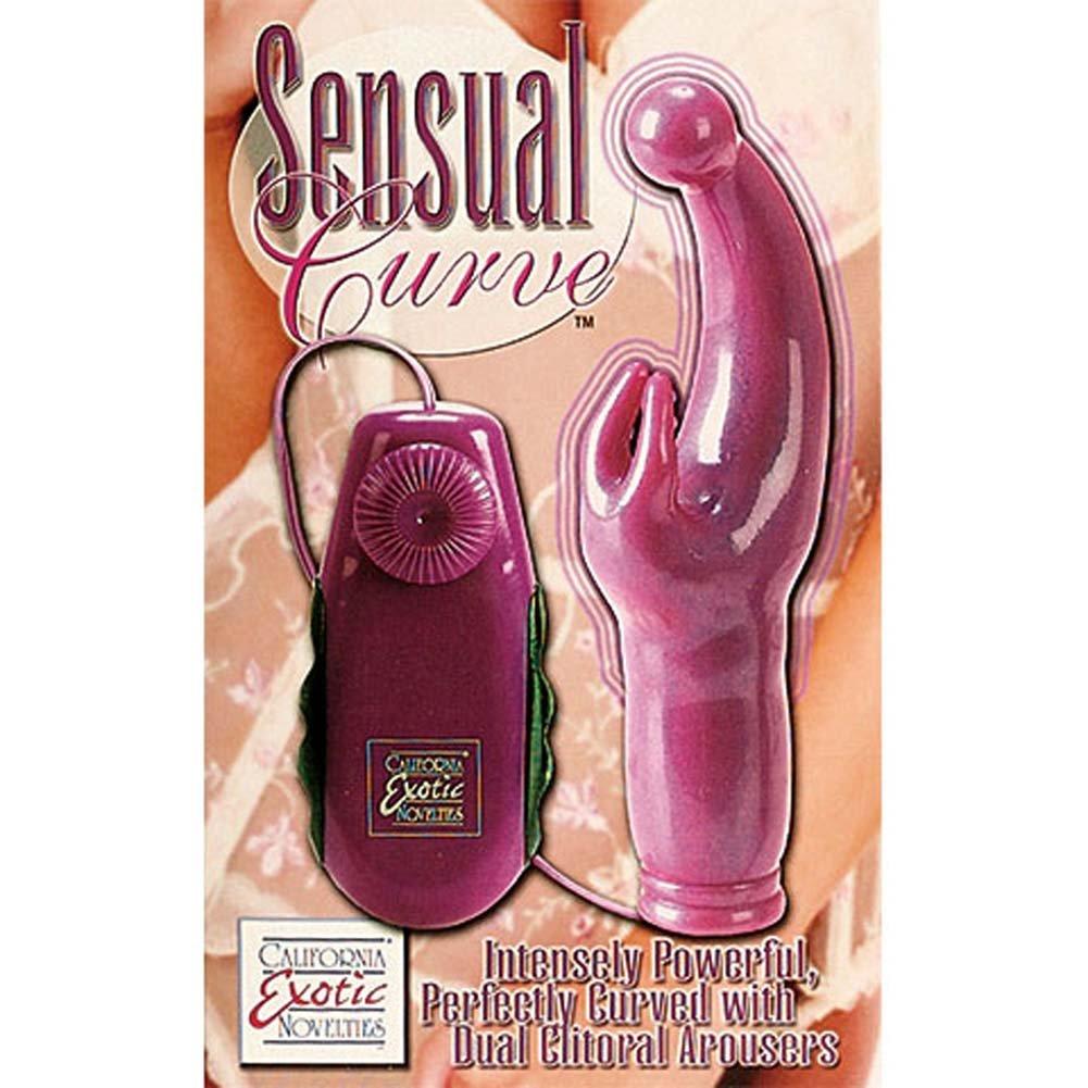 "Sensual Curve G-Spot Vibrator 6.5"" Pink - View #3"