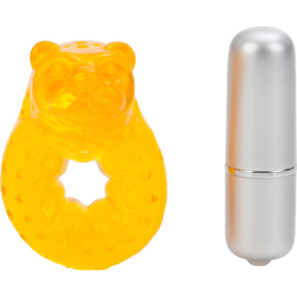 California Exotics Wicked Arouser Kerry Sable Tiger Jelly Vibrating Cock Ring - View #3