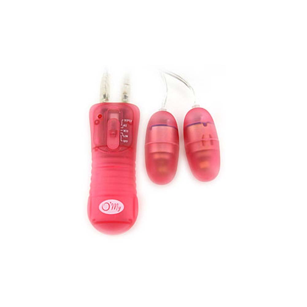 Poppy Micro Vibe Kit with 2 Waterproof Pink Eggs 2 In. - View #2