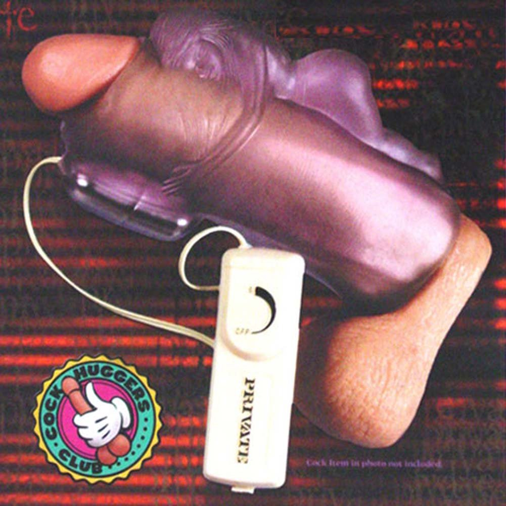 Cock Hugger Jelly Masturbator with Vibrating Egg - View #2