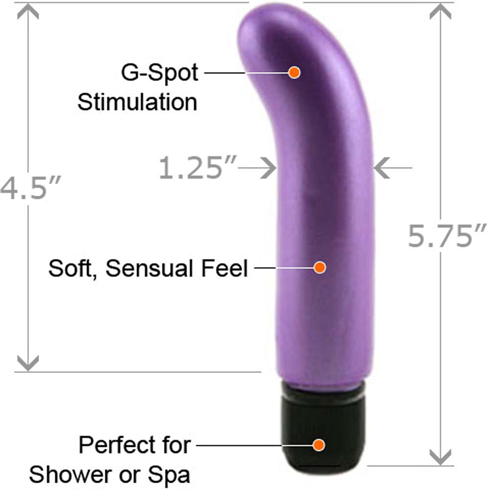 "Golden Triangle Pearl Shine G-Spot Vibrator 5.75"" Lavender - View #1"