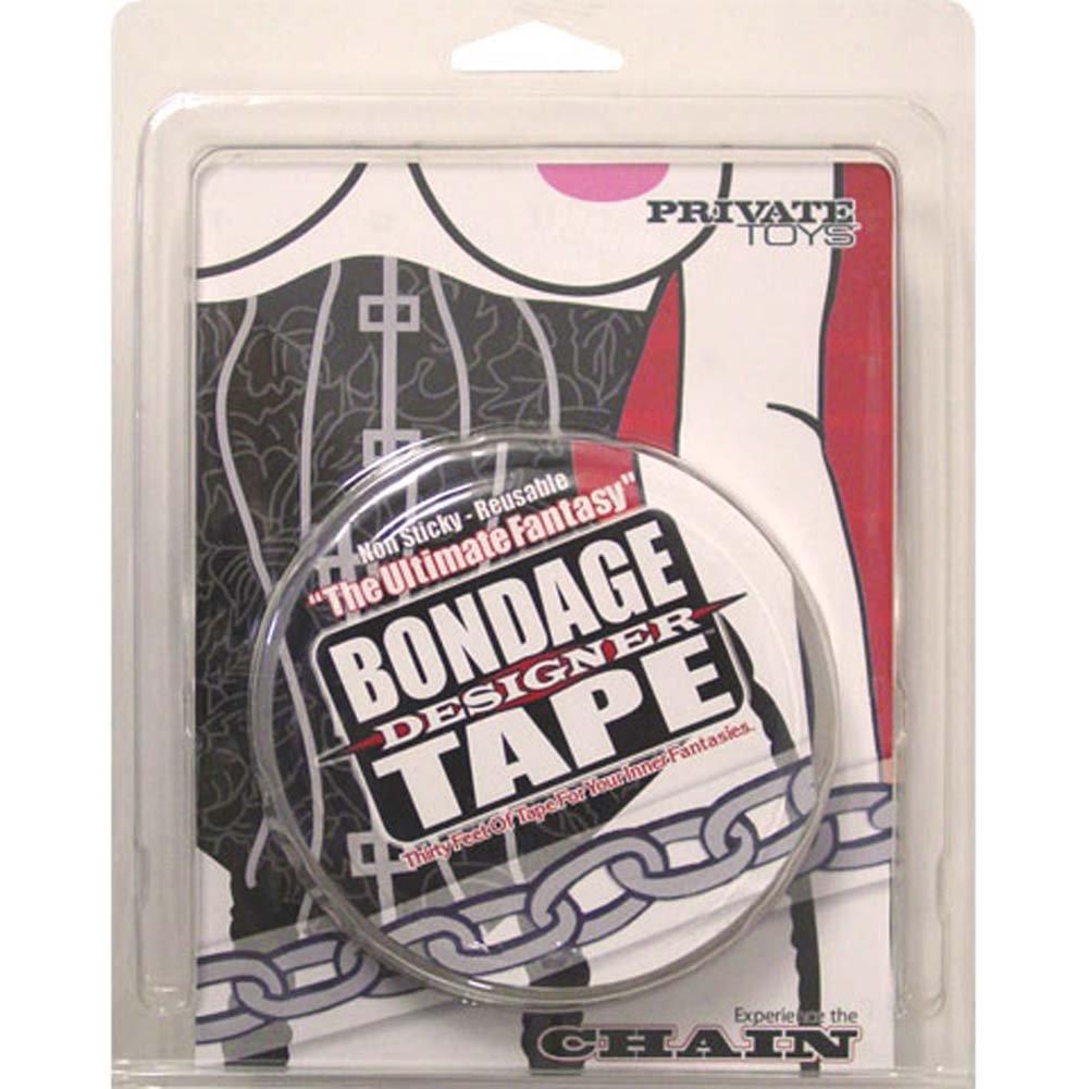 Bondage Designer Tape Black Chain - View #1