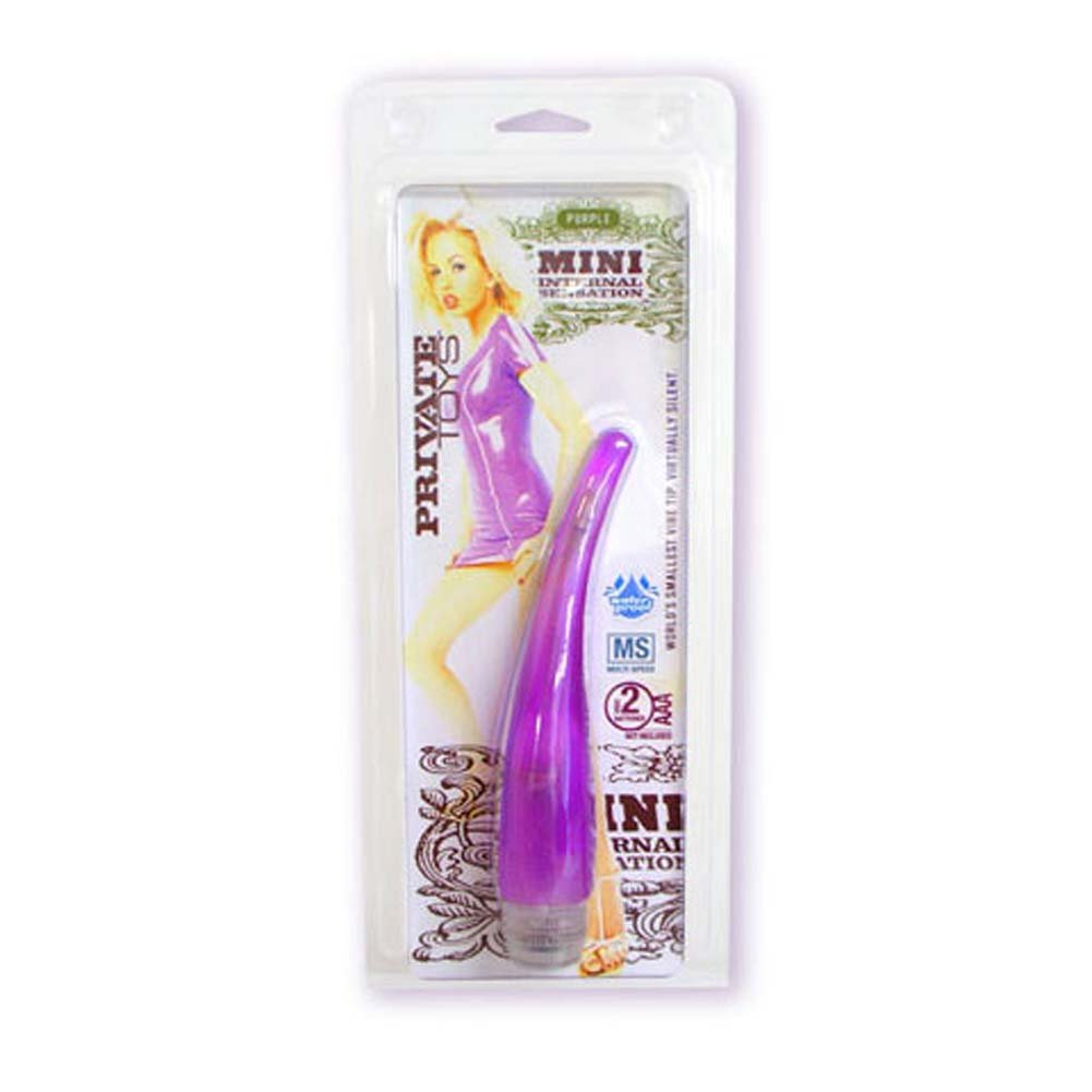 Mini Internal Sensation Waterproof Jelly Vibe Purple 7 In. - View #1