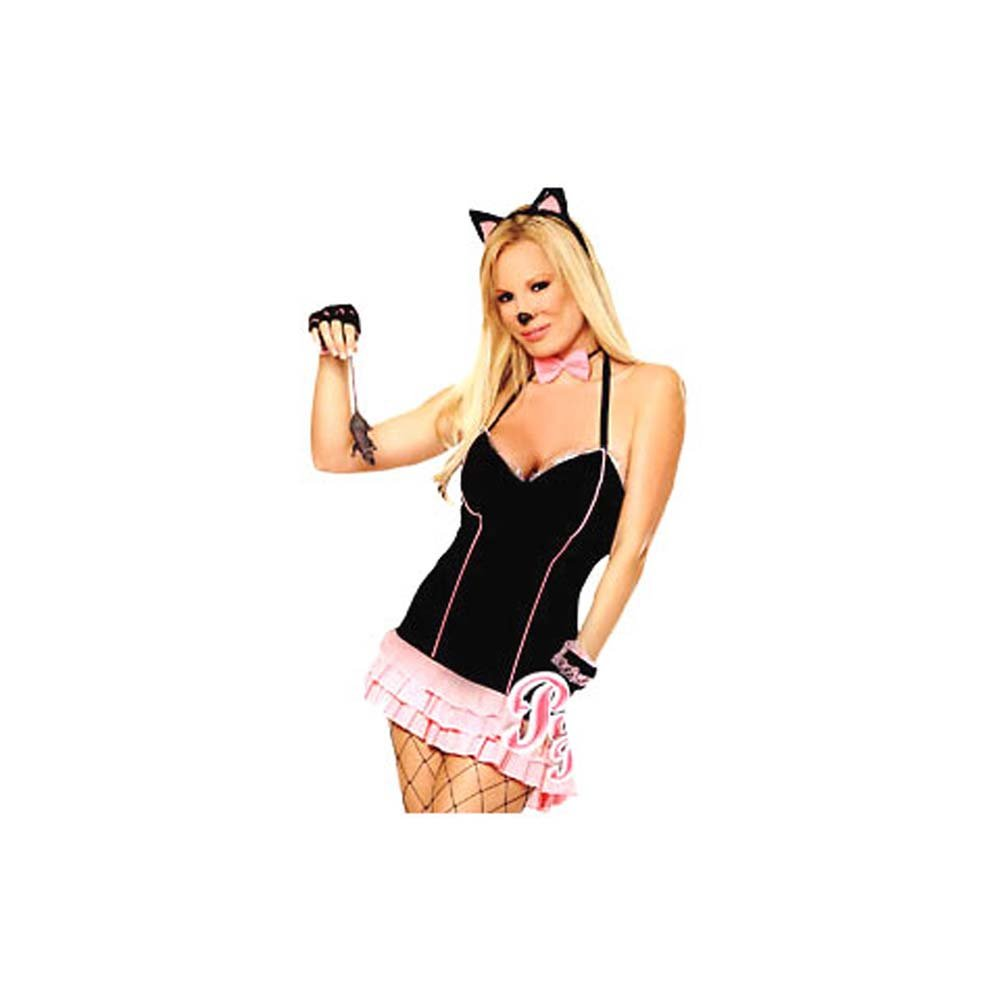 Purrrfect Pussy Cat 4 Piece Costume Set - View #2