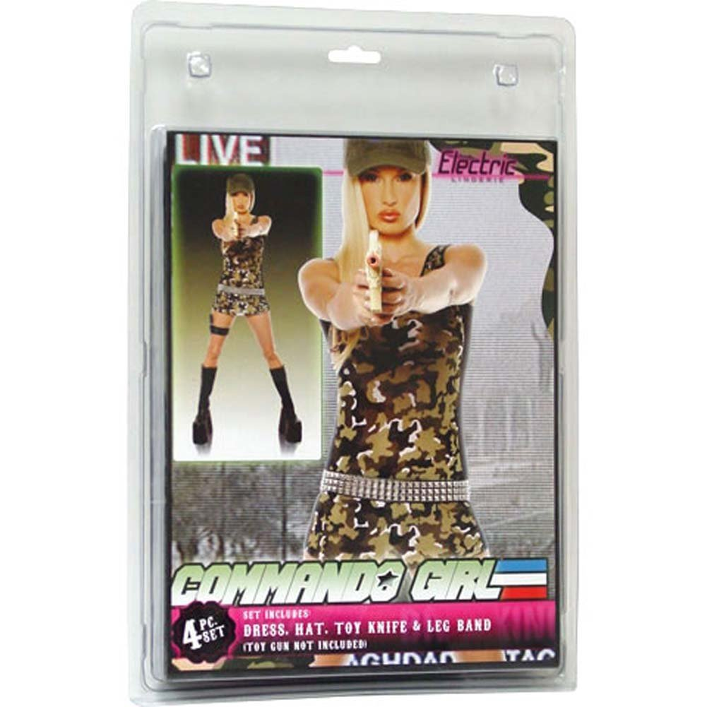 Commando Girl 4 Piece Costume Set - View #1