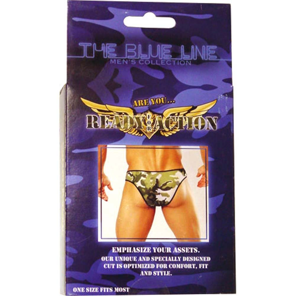 Ready for Action Mens Panty Green - View #3