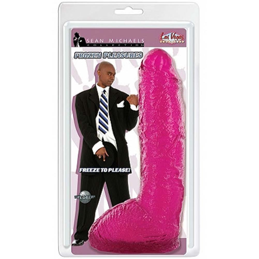 Sean Michaels Frozen Pleasures Jelly Ice Dong Purple 10 In. - View #1