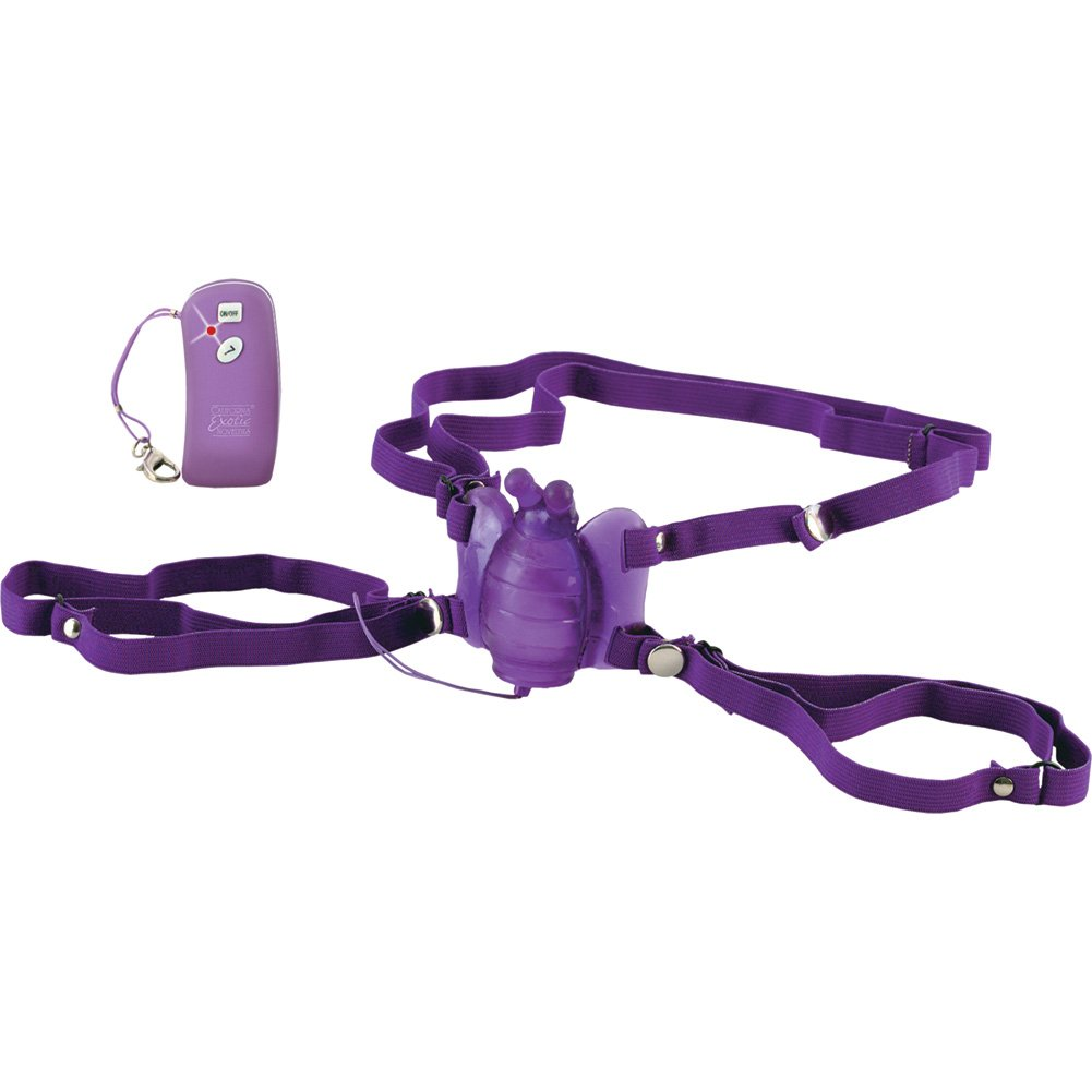California Exotics Wireless Remote Control Waterproof Silicone Venus Butterfly Purple - View #3