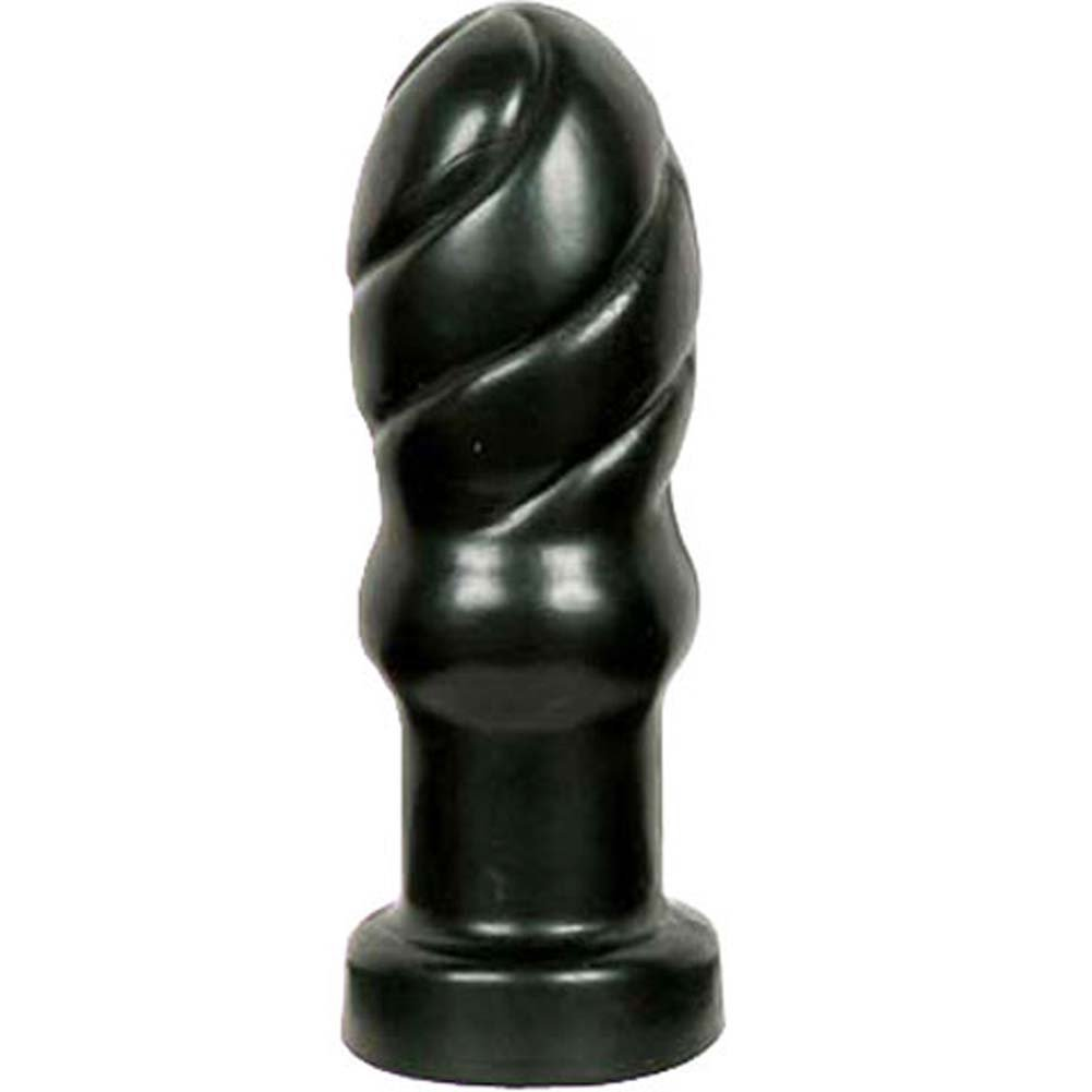 "Bonez Swirl Butt Plug 4.5"" Black. - View #2"
