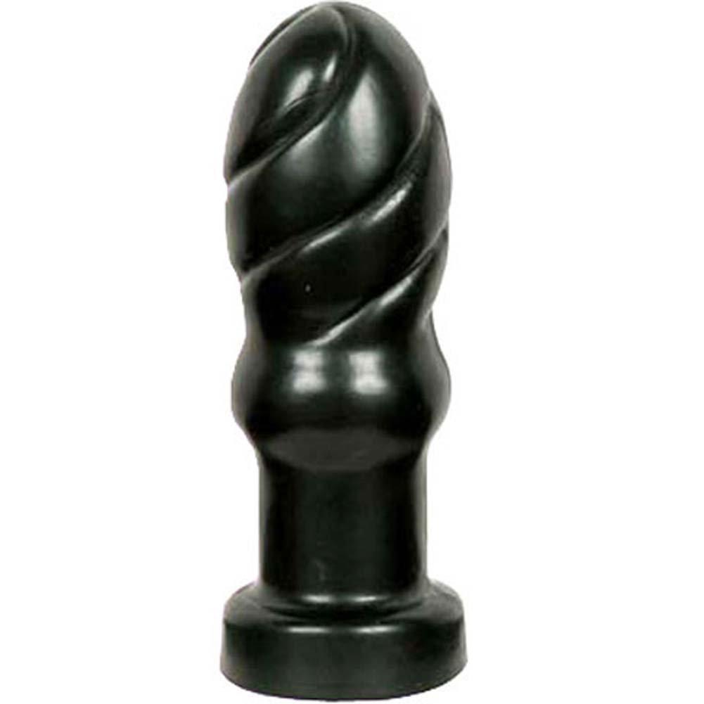 "Bonez Swirl Butt Plug 4.5"" Black. - View #2"