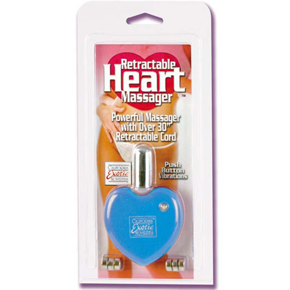 Retractable Heart Vibrating Massager Blue 1.75 In. - View #1