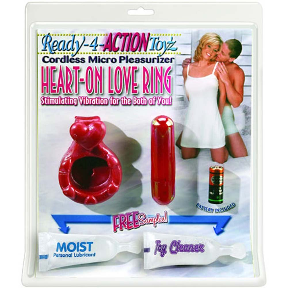 Cordless Micro Pleasurizer Jelly Love Ring with Bullet Pink - View #1