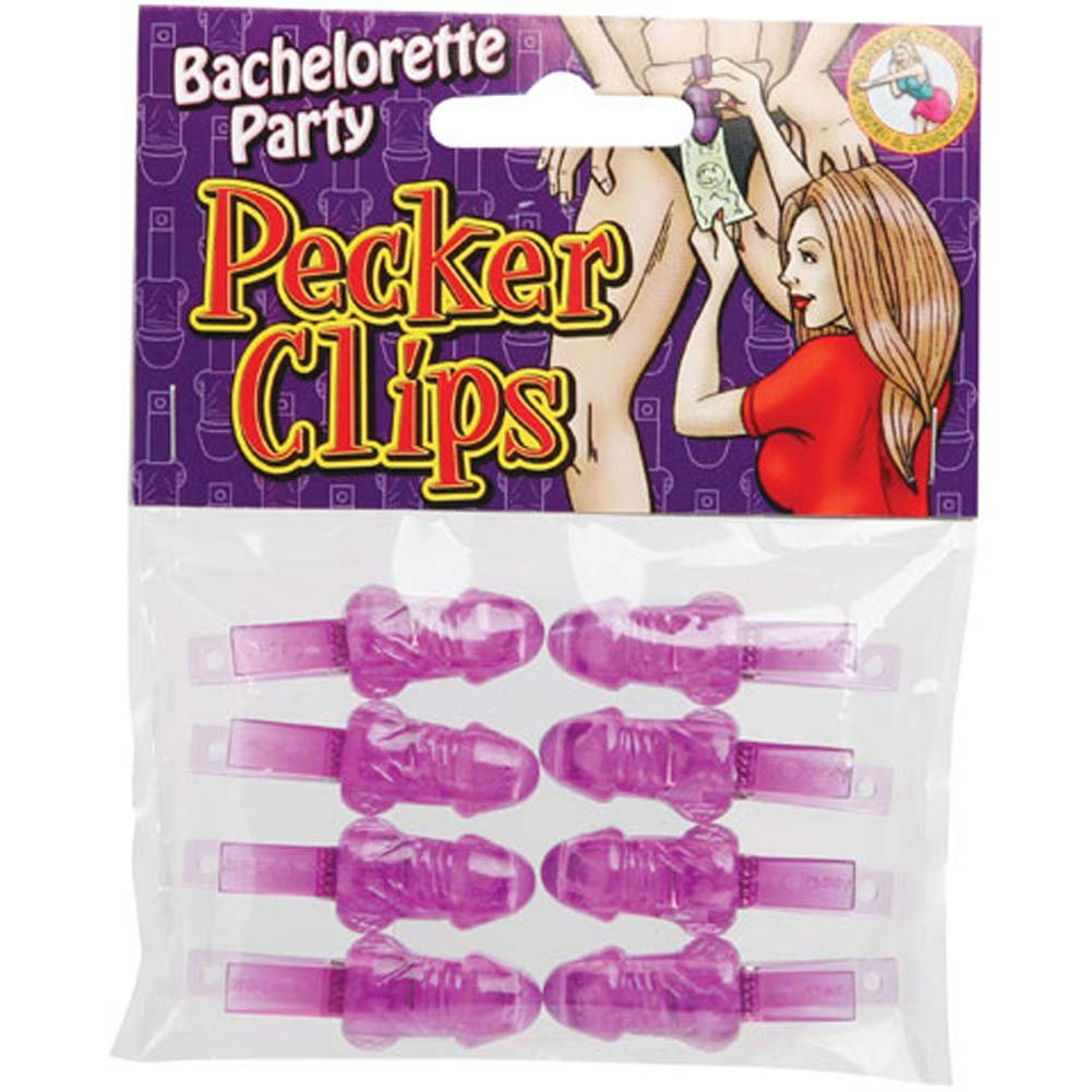 Bachelorette Party Pecker Clips Set 8 Pc. - View #1