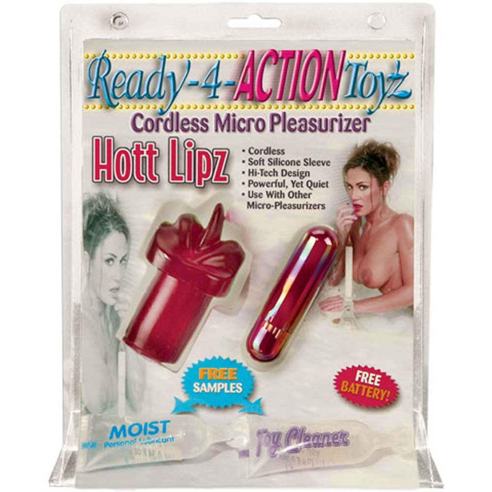 Cordless Micro Pleasurizer Hott Lipz Silicone Vibe 2.75 In. - View #1