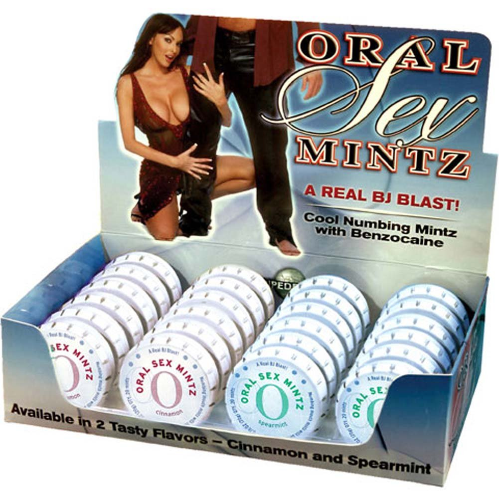 Oral Sex Mintz Counter Display of 24 - View #1