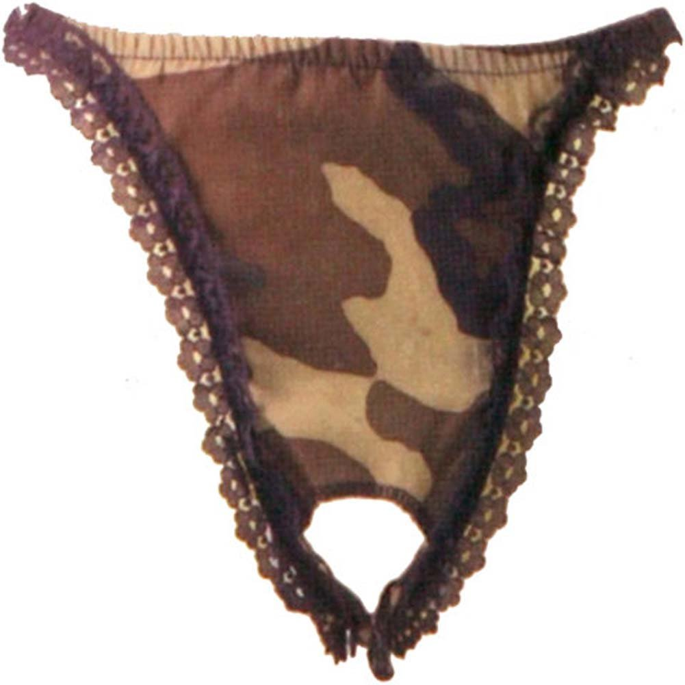 Military Issue Camouflage Crotchless Undies - View #3