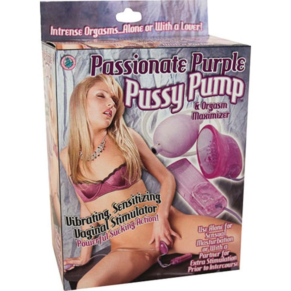 Passionate Pussy Pump Vibrating Orgasm Maximizer Purple - View #4