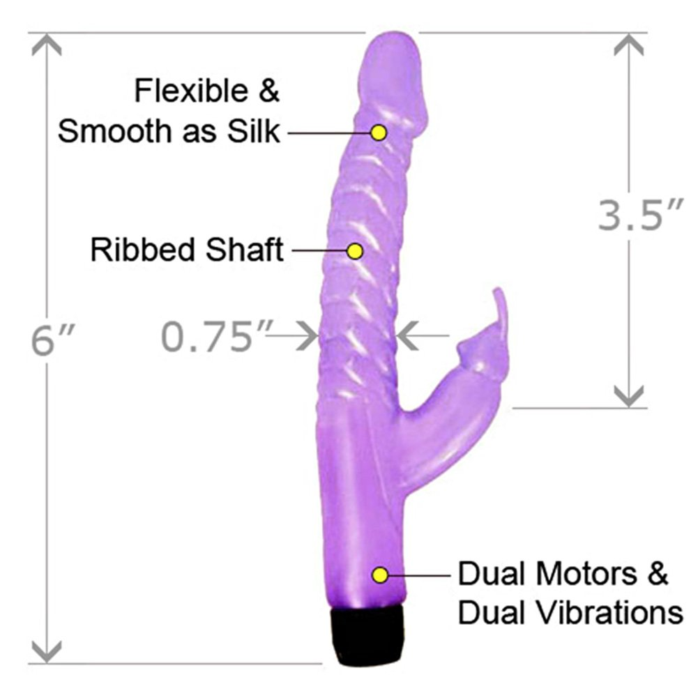 "Pearl Shine Mini Rabbit Vibro Wand 6"" Intimate Lavender - View #1"