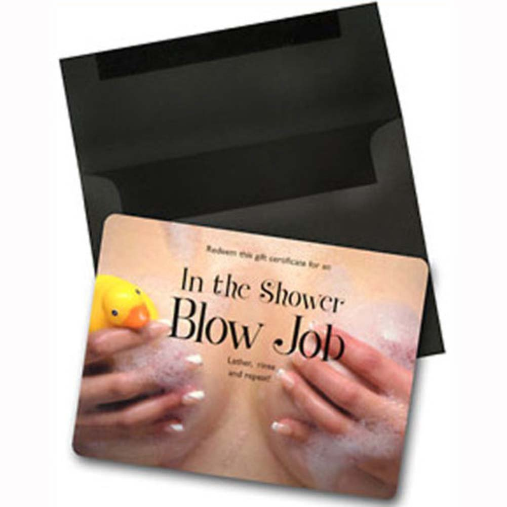 In the Shower Blow Job Gift Certificate - View #1