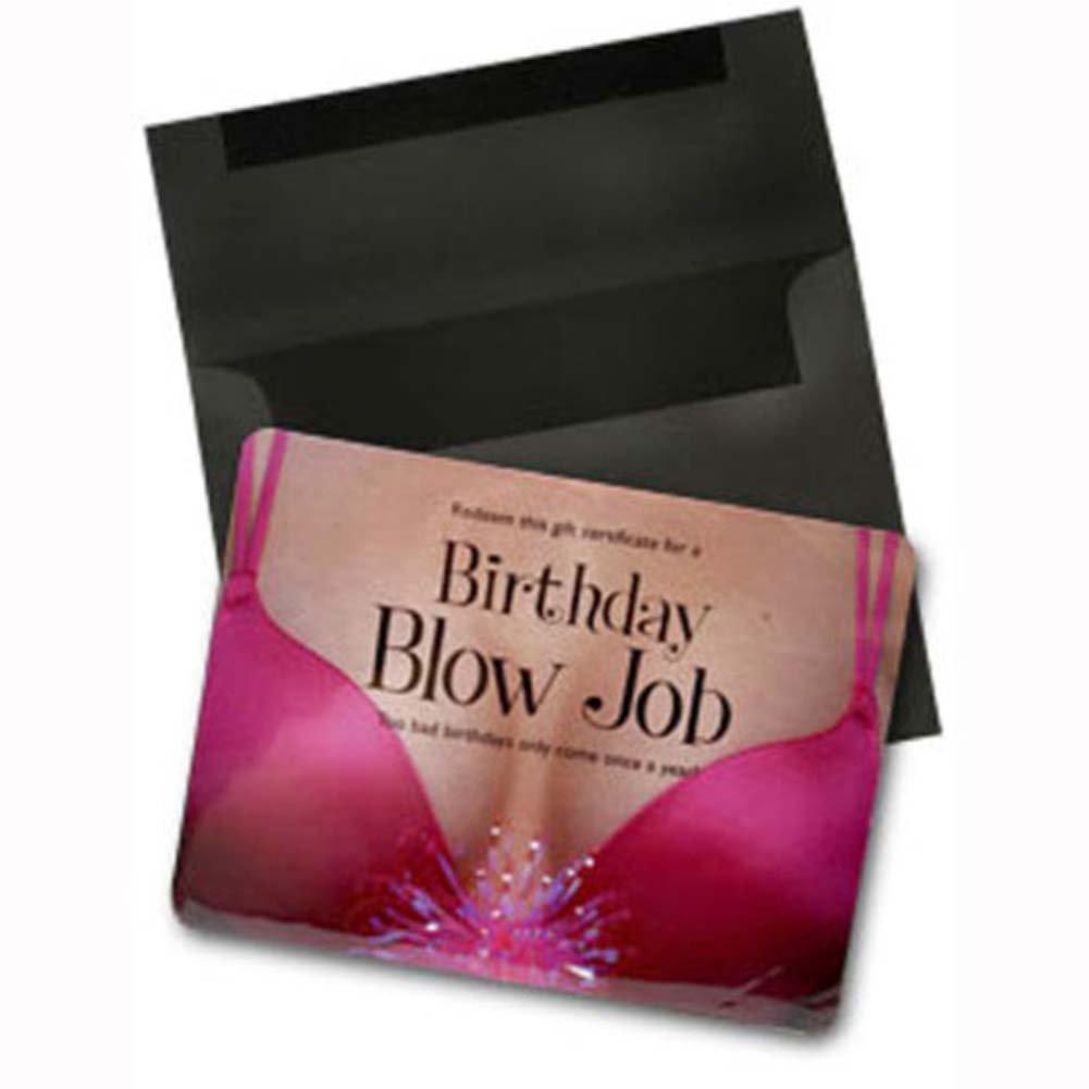 Birthday Blow Job Gift Certificate - View #1