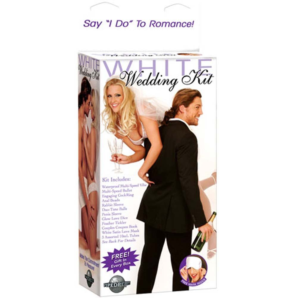White Wedding Kit with Waterproof Vibrator 8 In. - View #1