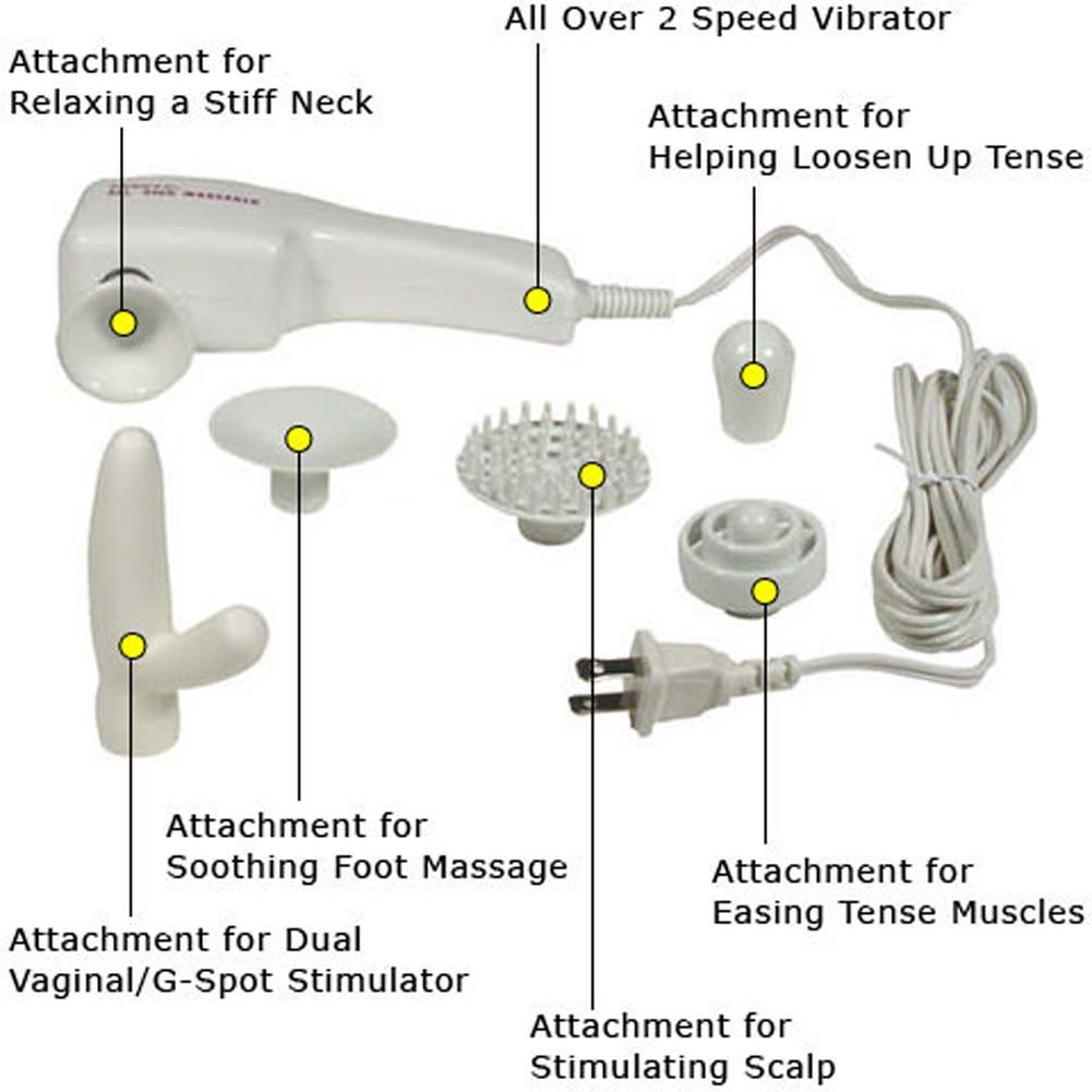 Foreplay to Love Electric Vibrating Kit with 6 Attachments - View #2