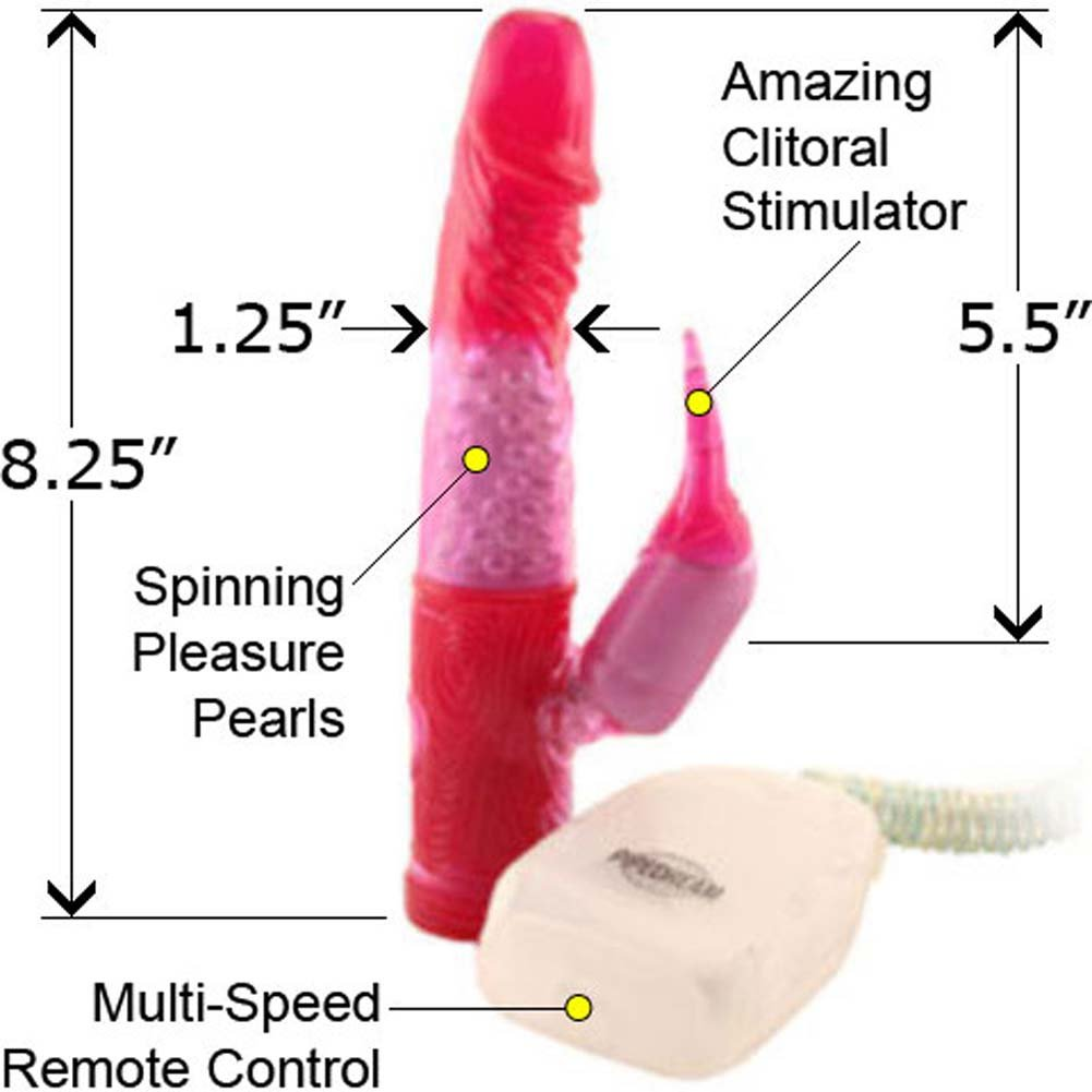 Purple Power Pearl Jelly Vibrator 8.25 In. - View #2