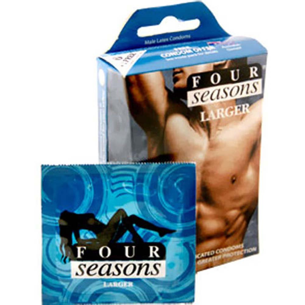 Four Seasons Larger Fitting 6 Condoms Pack - View #1