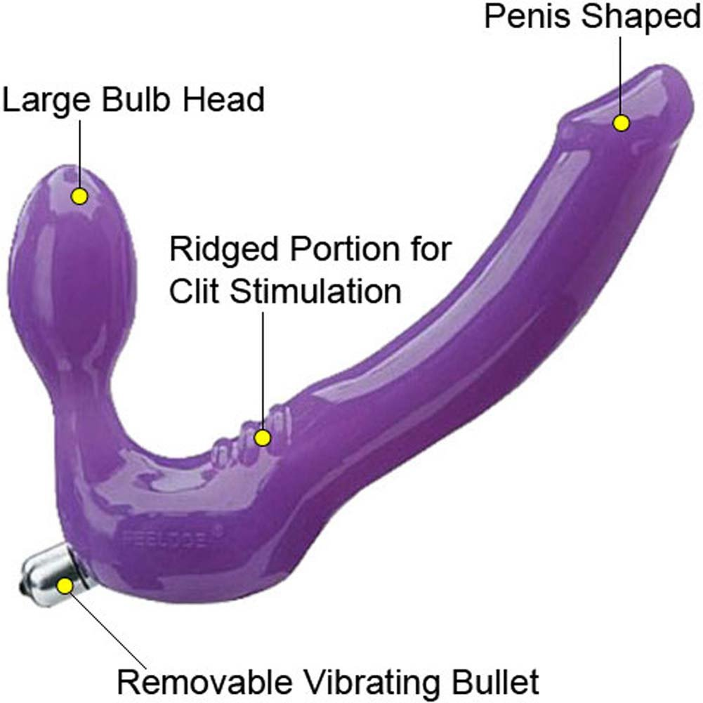 "Tantus Feeldoe Strapless Strap-On Silicone Dong 7"" Purple - View #1"