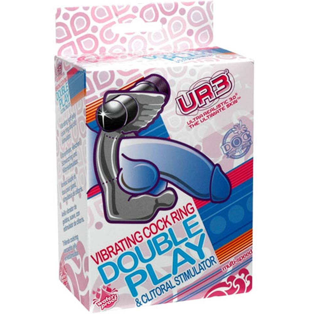 Double Play Waterproof UR3 Vibrating Cock Ring Clear - View #3