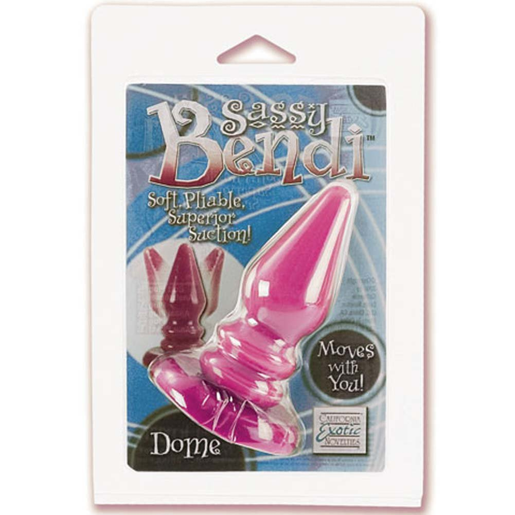 "Sassy Bendi Dome Butt Plug 4.25"" Pink - View #2"