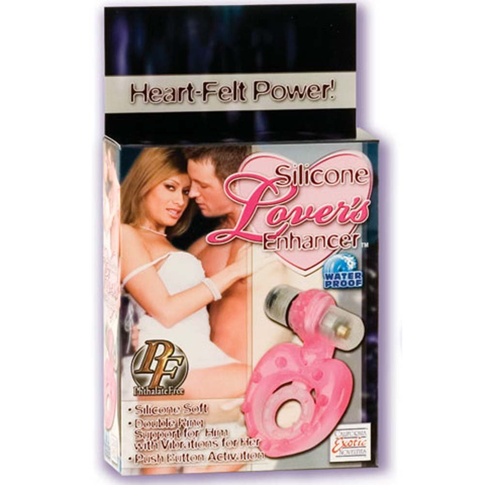 Silicone Lovers Enhancer Waterproof Vibrating Cockring - View #1