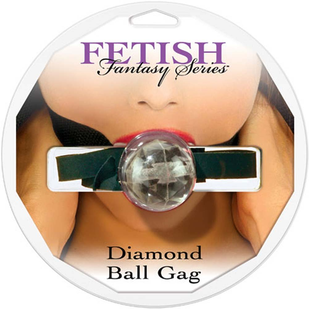 Fetish Fantasy Series Diamond Ball Gag Clear - View #1