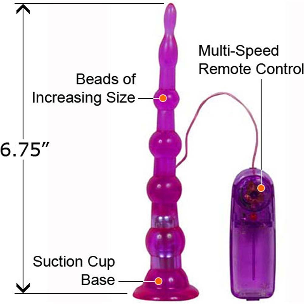"Sliders Short Vibrating Butt Plug 6.75"" Purple - View #1"