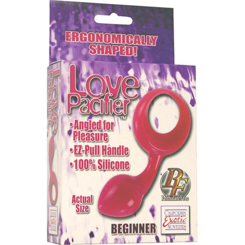 Love Pacifier Beginner Silicone Butt Plug Red - View #1