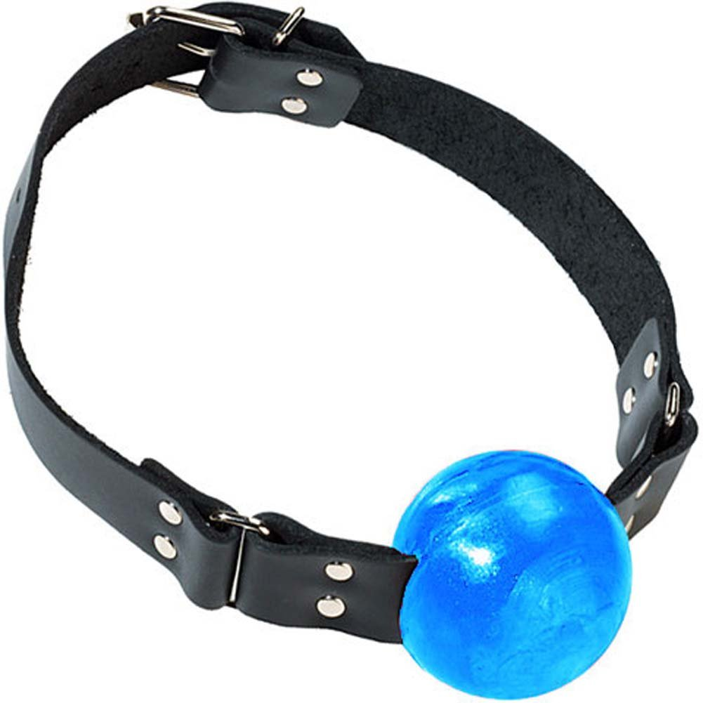 Ball Gag with Buckle Blue - View #2