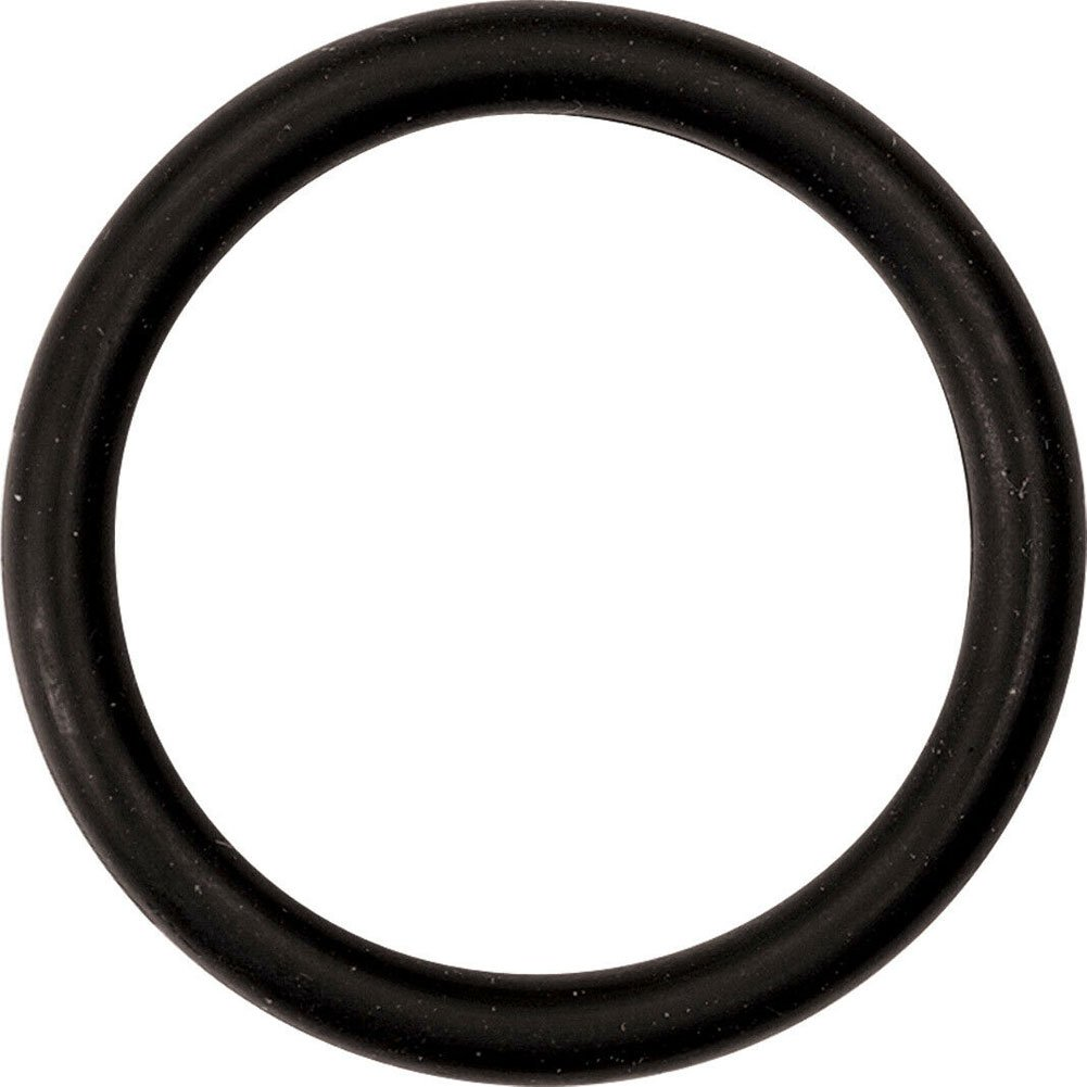 "M2M Mega Nitrile Cockring Large 2"" Black - View #2"