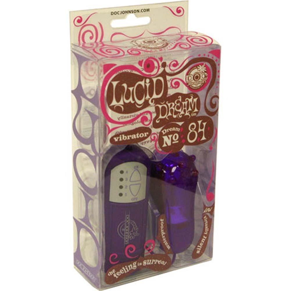 Lucid Dream Number 84 Waterproof Vibe Purple 3.25 In. - View #1