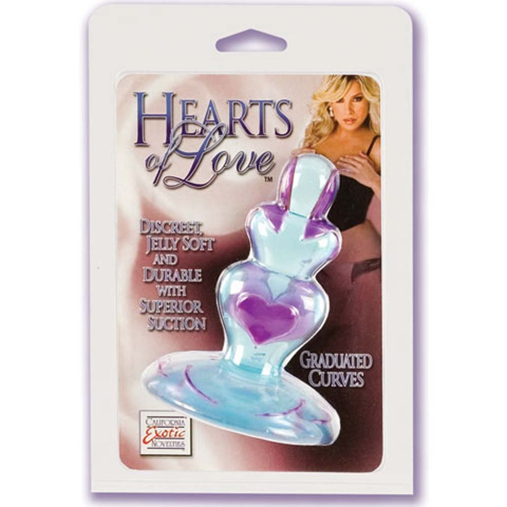 Hearts of Love Jelly Butt Plug Blue 4.5 In. - View #1