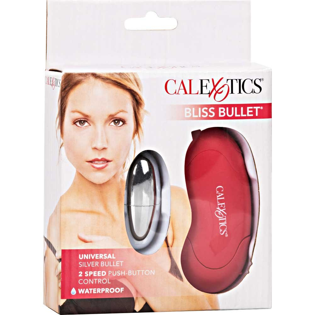"CalExotics Bliss Universal Vibrating Bullet with Remote 2.25"" Red/Silver - View #4"