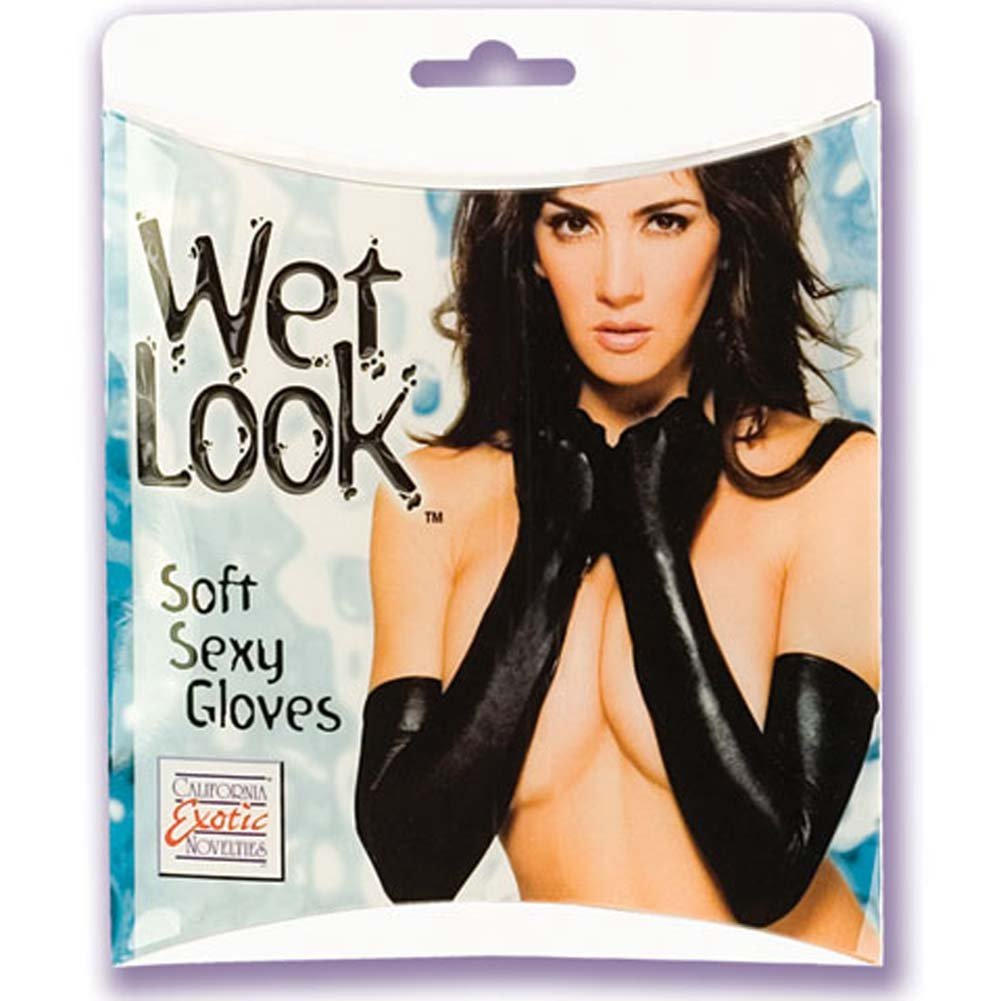Wet Look Soft Sexy Gloves - View #2
