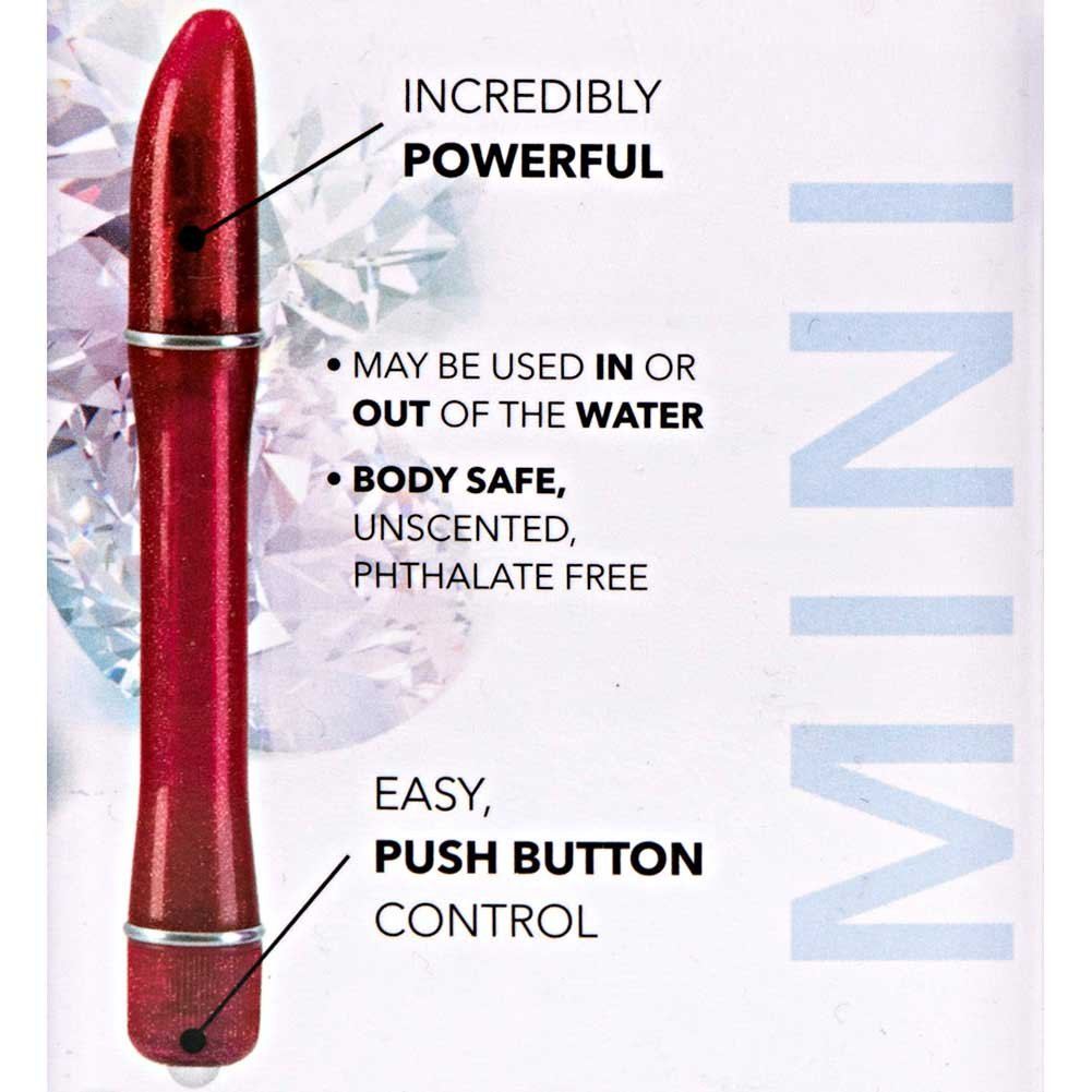"California Exotics Waterproof Pixies Pinpoint Intimate Vibrator 5.75"" Red - View #1"