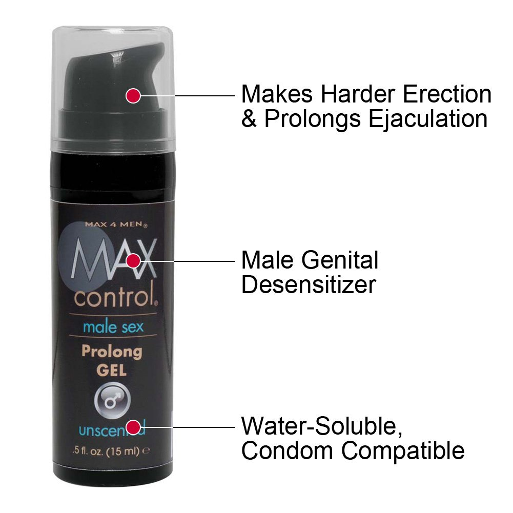 Max Control Prolong Gel for Men 0.5 Fl.Oz 15 mL Boxed - View #1