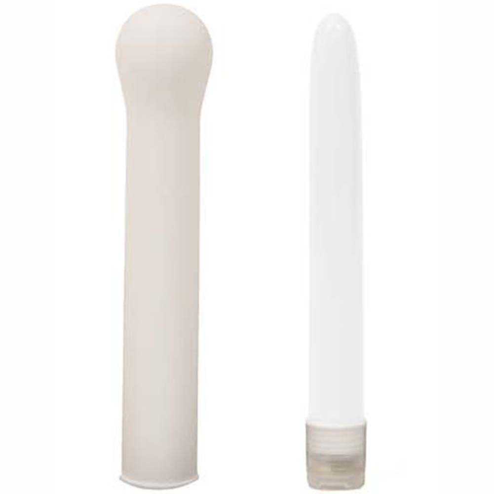 Intimate Interludes Waterproof Slim Vibe with Sleeve White. - View #2