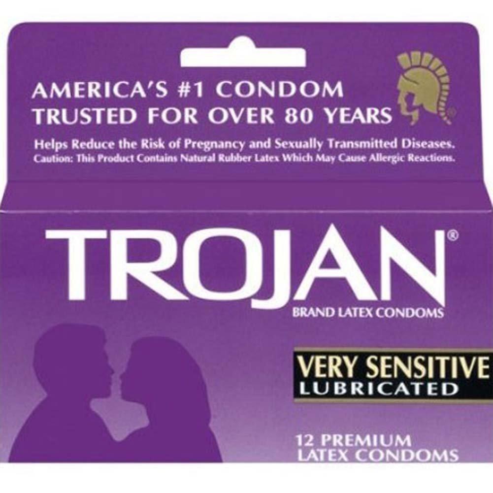 Trojan Very Sensitive Lubricated Condoms 12 Pack - View #2
