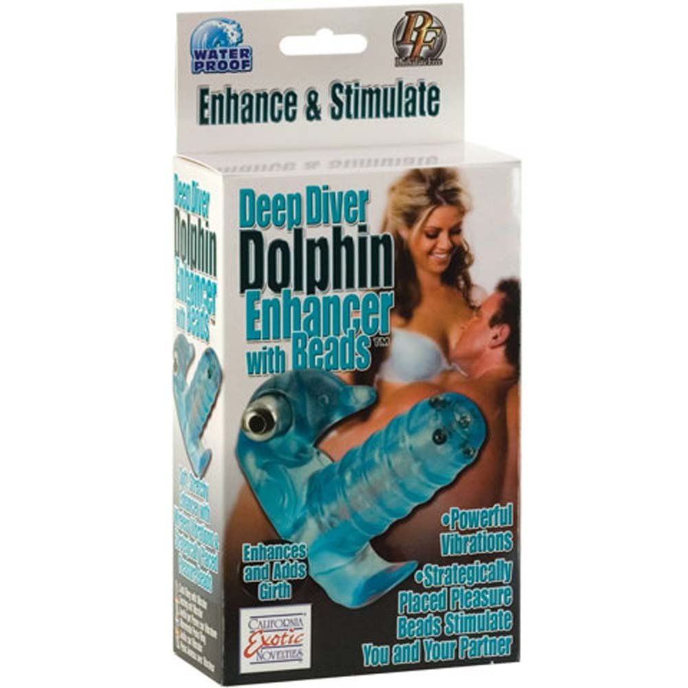 Deep Diver Dolphin Waterproof Vibrating Enhancer with Beads - View #3