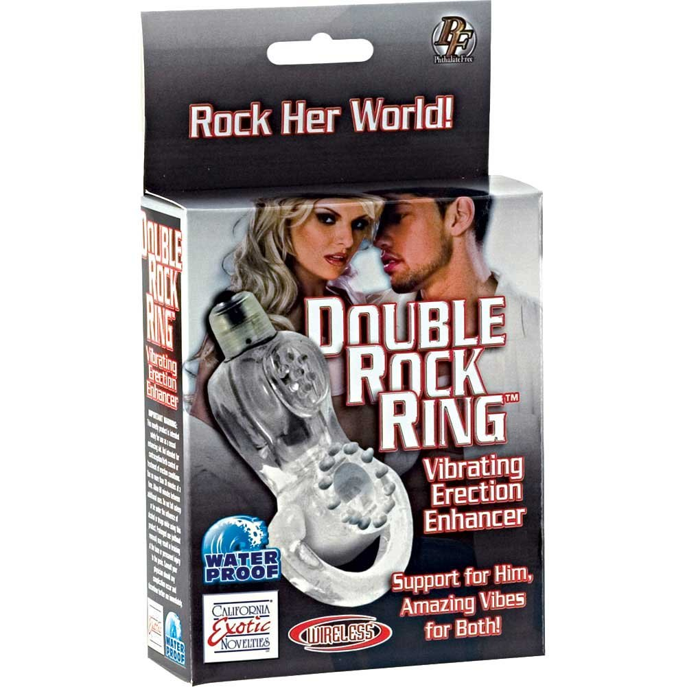 Double Rock Waterproof Wireless Vibrating Ring - View #1