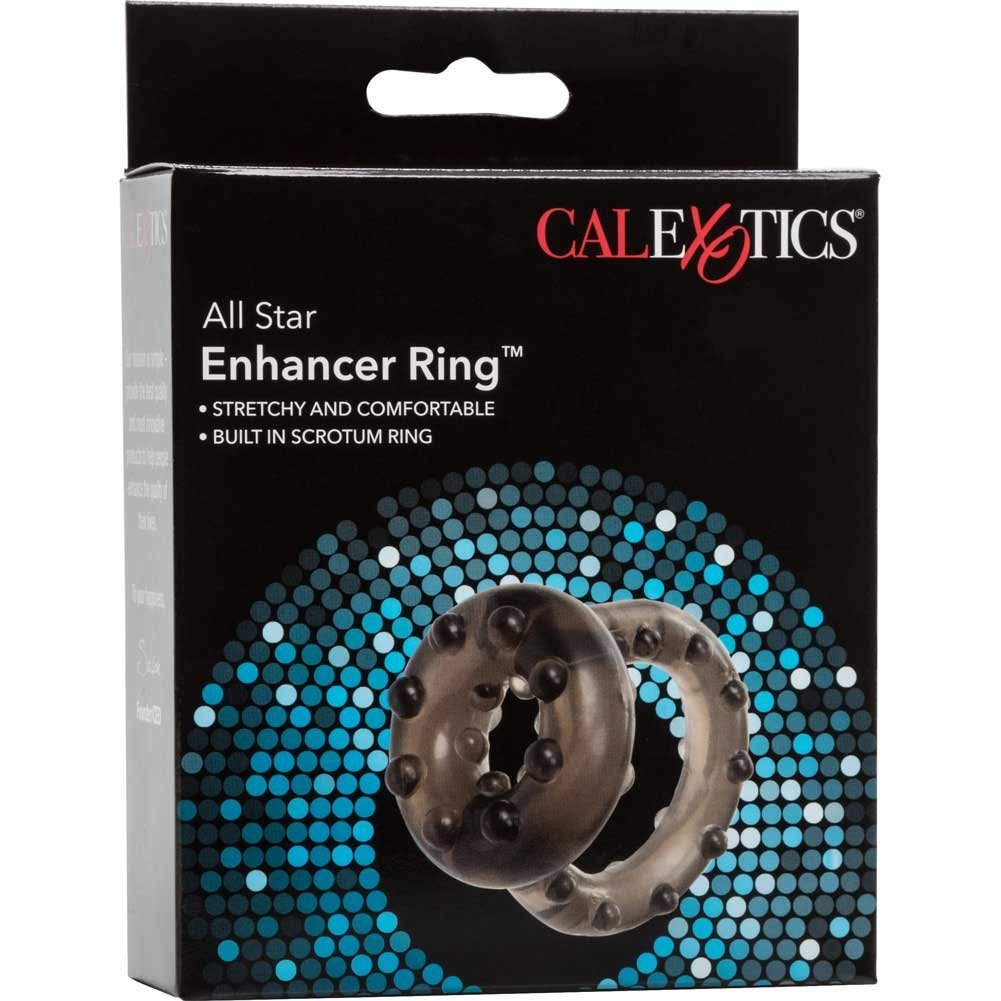 CalExotics All Star Jelly Enhancer Ring for Men Smoke - View #4