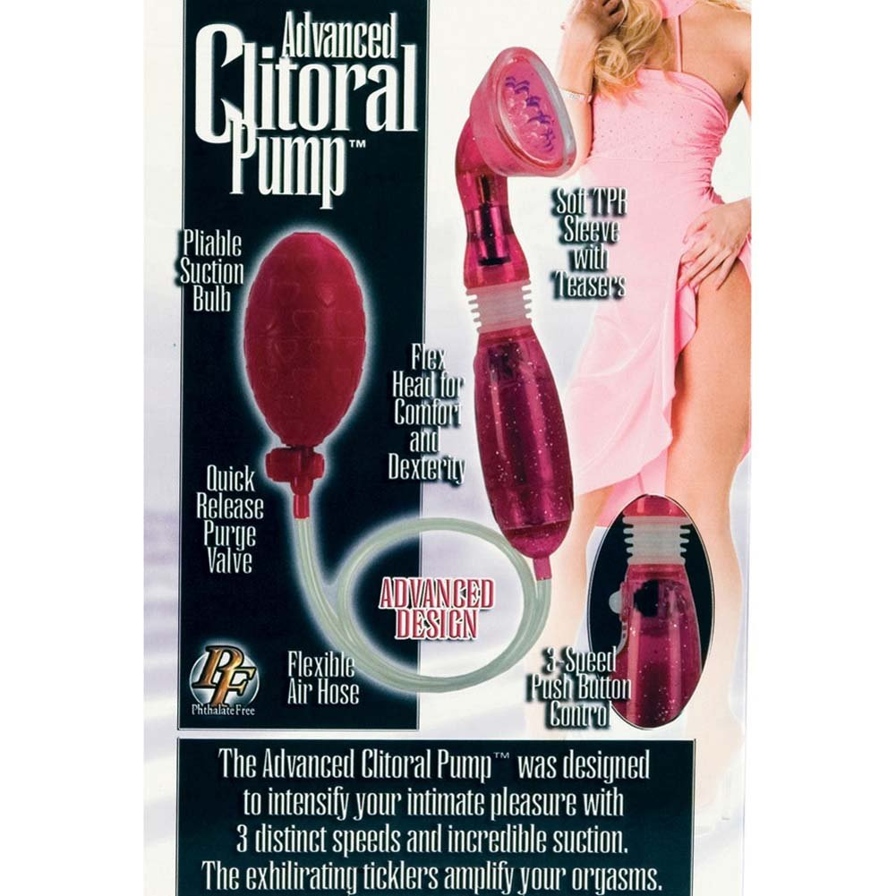 Advanced Waterproof Vibrating Clitoral Pump Hot Pink - View #3