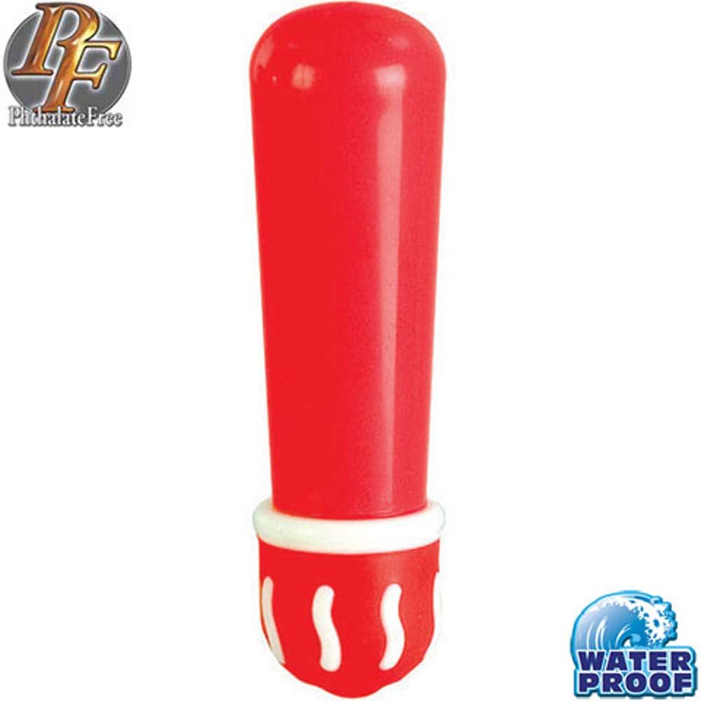 Diva Collection Mini Push Button Waterproof Bullet Red - View #1